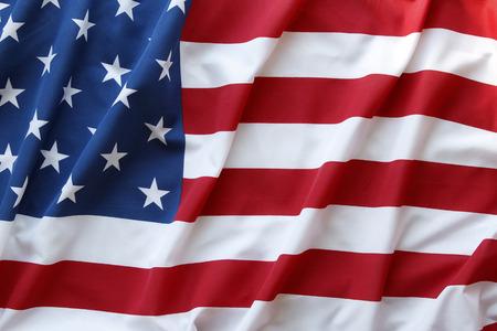 rippled: Closeup of ruffled American flag