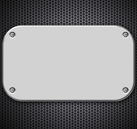 riveted metal: Steel plating riveted to grill pattern Stock Photo