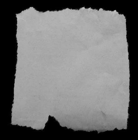 one sheet: Piece of torn paper on black. Copy space