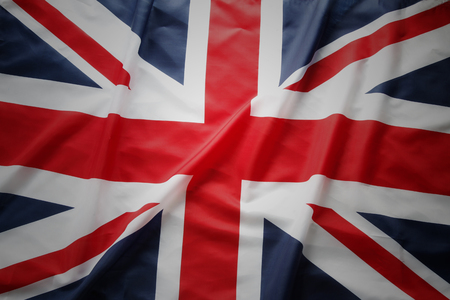 union jack: Closeup of Union Jack flag