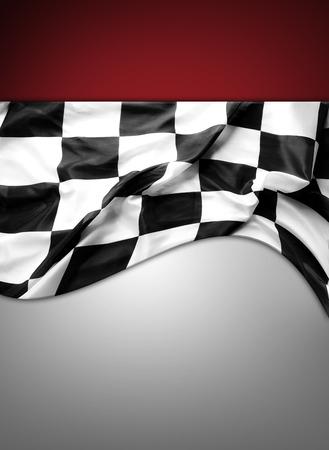 bandera carrera: Bandera blanco y negro a cuadros. Copia espacio