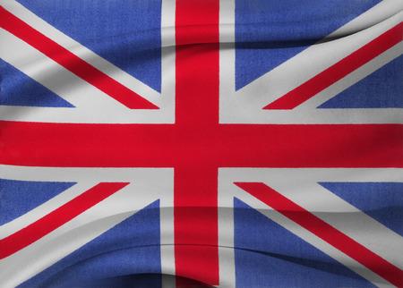 rippled: Closeup of silky Union Jack flag