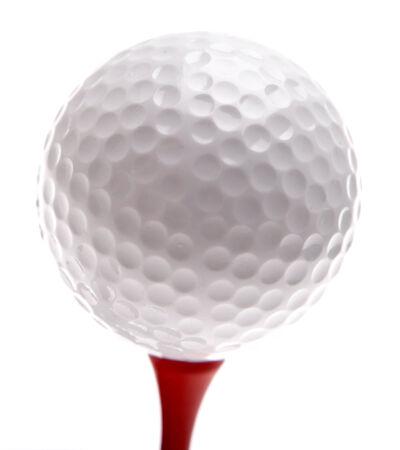 golfball: Golf ball on tee. Plain background