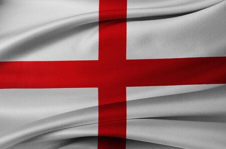 drapeau anglais: Gros plan du drapeau anglais soyeuse Banque d'images