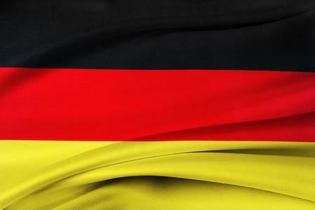 Closeup of silky German flag photo