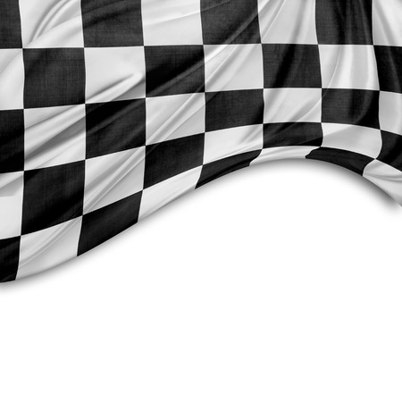 checker: Checkered black and white flag. Copy space