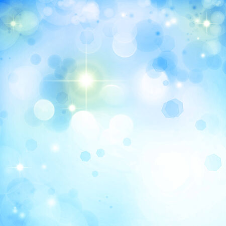 Abstract blue and white circles background photo