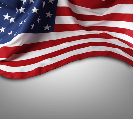 advertise with us: Closeup of American flag on plain background