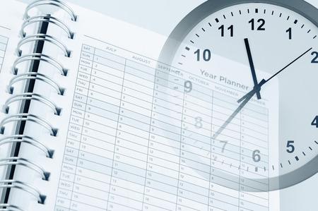 Zifferblatt und Jahresplaner Seite