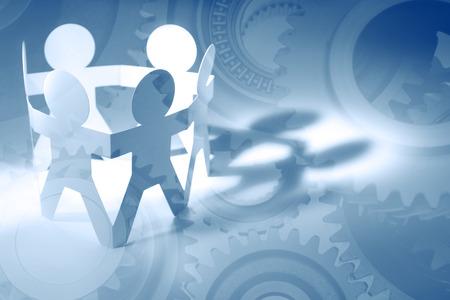 Getriebe und Team. Teamwork-Konzept