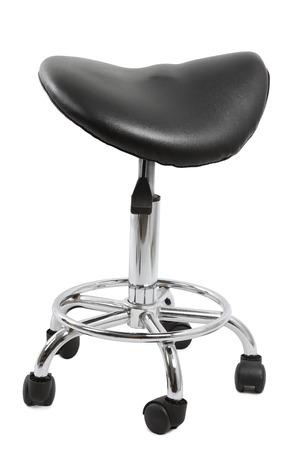 ergonomics: Saddle chair isolated on plain background Stock Photo