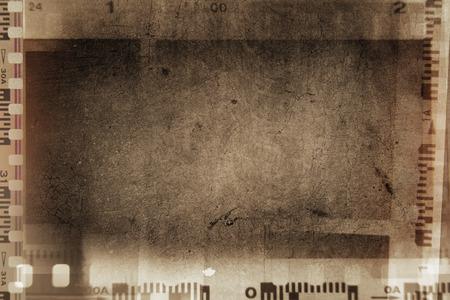 Film negative frames on grunge background
