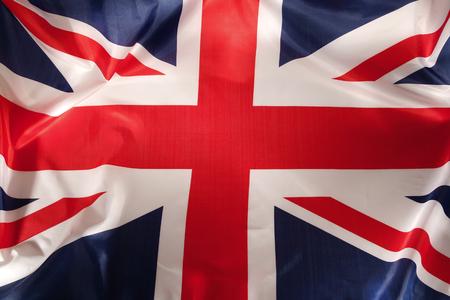 Closeup of Union Jack flag photo