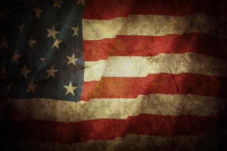 old glory: Closeup of grunge American flag