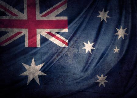 australia flag: Closeup of grunge Australian flag Stock Photo