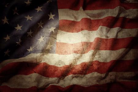 stripe: Closeup of grunge American flag