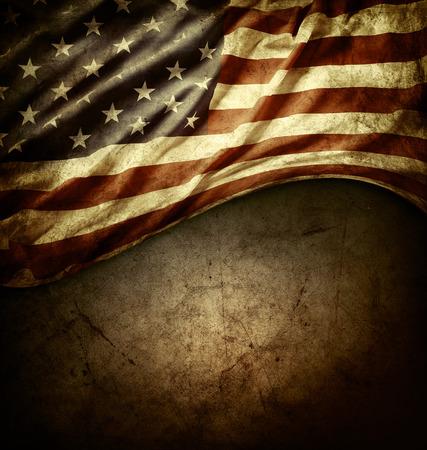 spojené státy americké: Detailní záběr na americké vlajky na pozadí grunge
