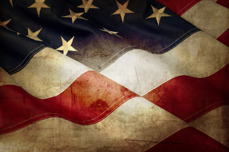 patriotic: Closeup of grunge American flag