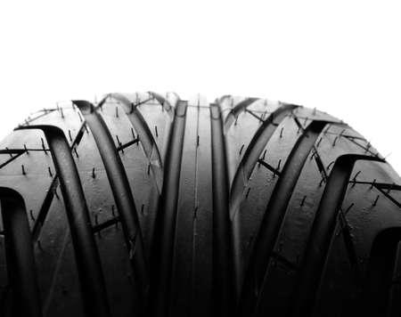 tire tread: Closeup of tire tread, plain background