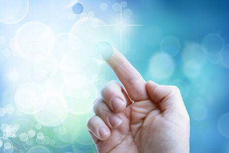 tapping: Dito pulsante sul touchscreen intercettazioni