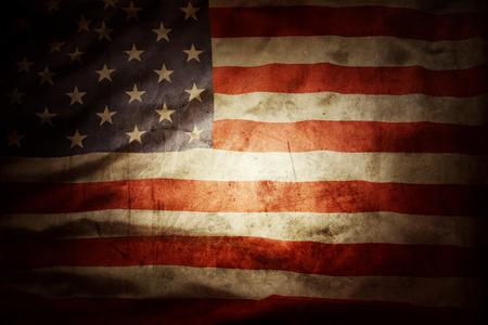 Nahaufnahme von Grunge amerikanische Flagge