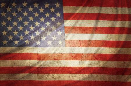 vintage flag: Closeup of grunge American flag