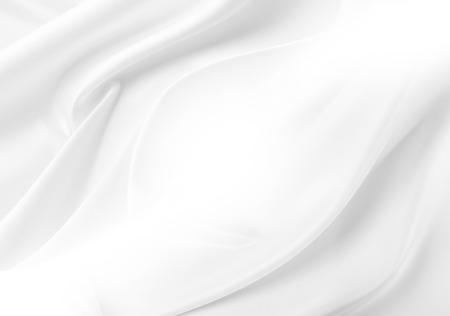 파문 흰색 실크 직물의 근접 촬영
