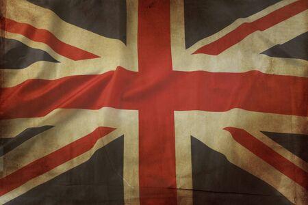union jack: Closeup of grunge Union Jack flag Stock Photo