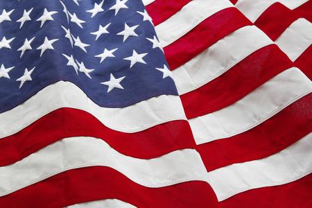 banderas americanas: Primer plano de la bandera americana con volantes