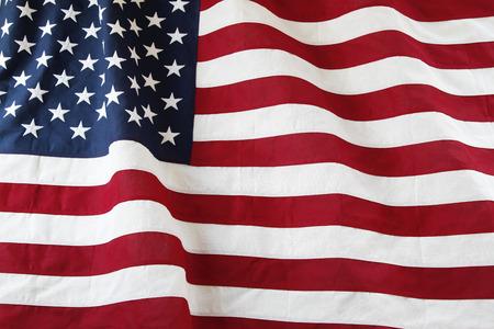 banderas america: Primer plano de la bandera americana con volantes