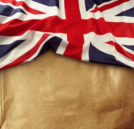 Union Jack flag on paper background photo