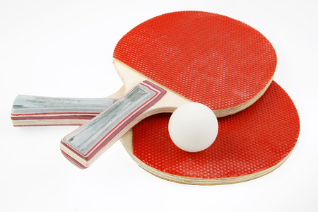 Table tennis bats and ball photo