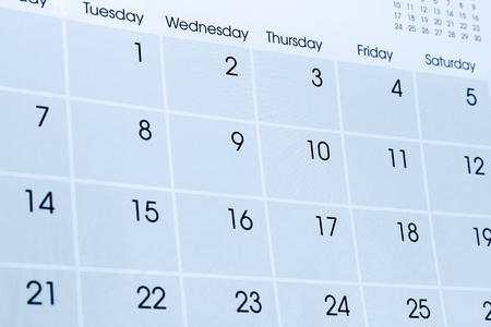 Detailansicht der Zahlen auf Kalenderseite Standard-Bild - 36994752