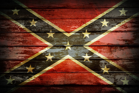 rebel: Closeup of Confederate flag on boards