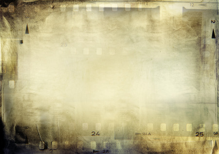 film  negative: Film negative frames on grunge paper