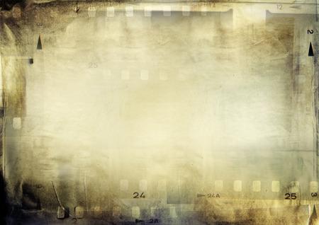 negative space: Film negative frames on grunge paper