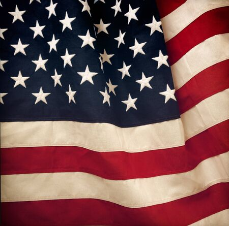 us flag: Closeup of rippled American flag