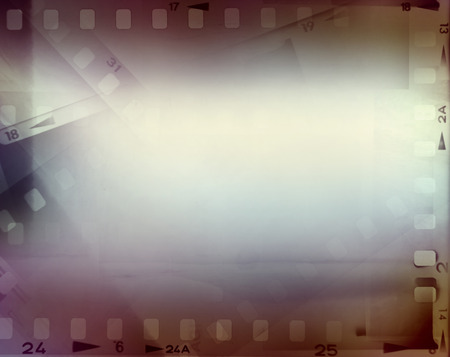 Film negative frames, film strips border photo