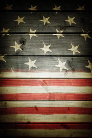 Gros plan du drapeau américain sur les tableaux Banque d'images - 37598768