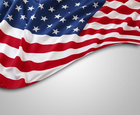 灰色背景: 灰色の背景にアメリカの国旗 写真素材
