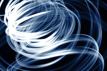 swirly: Blue swirly lines on black background