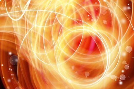 efectos especiales: Swirly fondo abstracto líneas amarillas