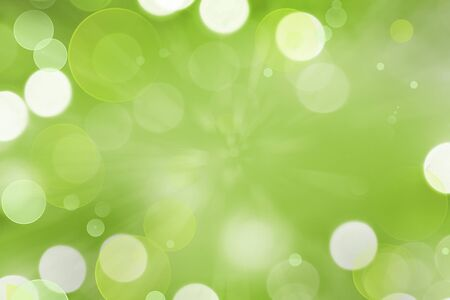special effects: Abstract green and white circles background Stock Photo