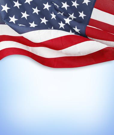 american flag: American flag on blue background