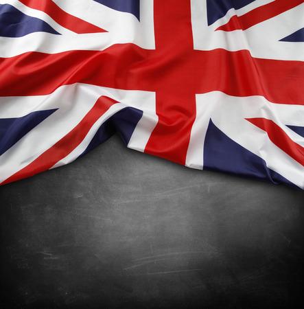 Union Jack flag on blackboard photo
