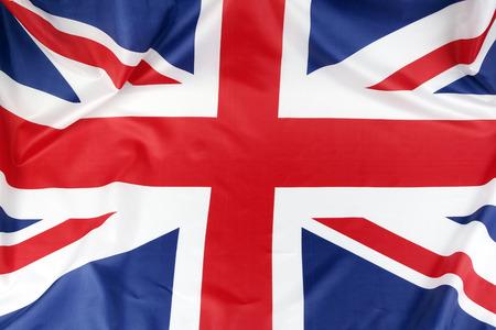 bandera reino unido: Primer de la bandera de Union Jack Foto de archivo