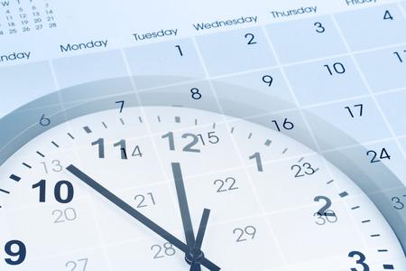 Clock face and calendar composite Banco de Imagens