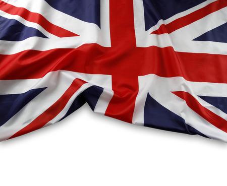 Union Jack flag on plain background Imagens