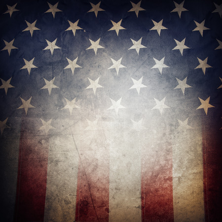 stars and stripes: Closeup of grunge American flag