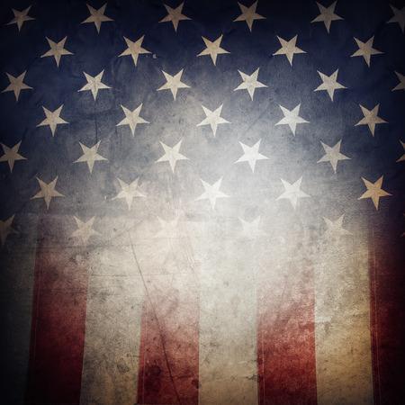 Gros plan de grunge drapeau américain Banque d'images